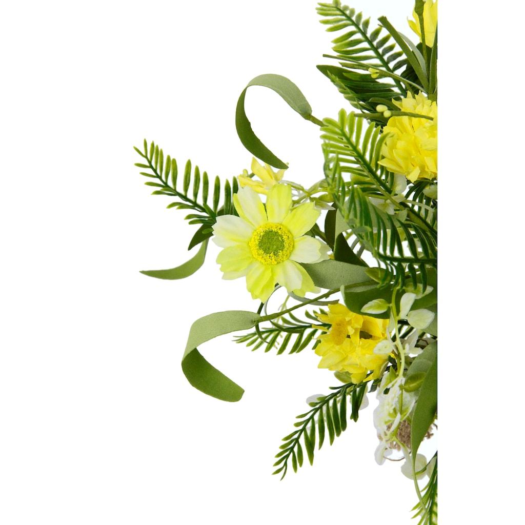 I.GE.A. Kunstblume »Arrangement 'Margeriten/Farn'«, in Jutetopf