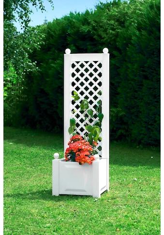 Spalier »mit Pflanzkasten 43 cm, weiß« kaufen
