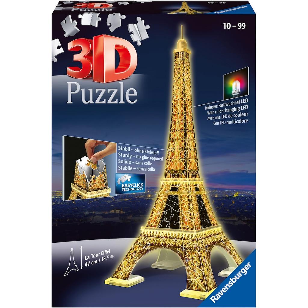Ravensburger 3D-Puzzle »Eiffelturm bei Nacht«, mit Leuchtmodul inkl. LEDs; Made in Europe, FSC® - schützt Wald - weltweit