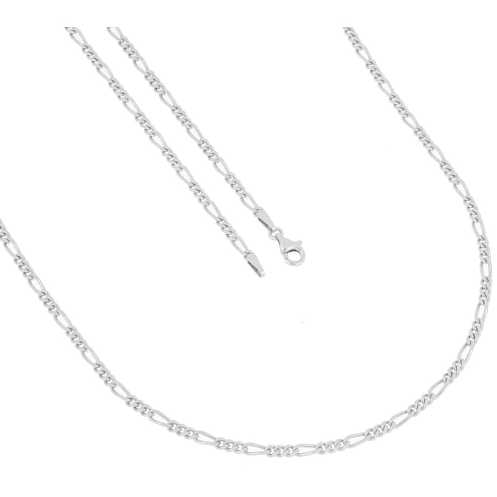 Firetti Silberkette »in Figarokettengliederung, 2-fach diamantiert, poliert«