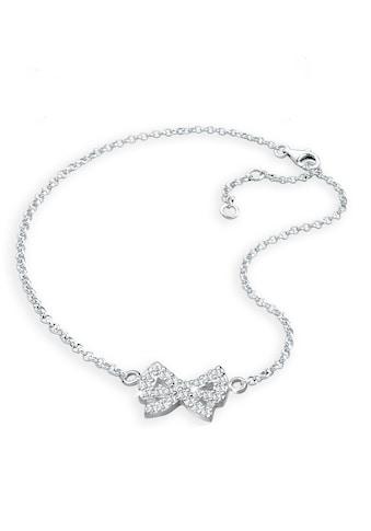 Elli Fußkette »Schleife Kristalle 925 Sterling Silber« kaufen