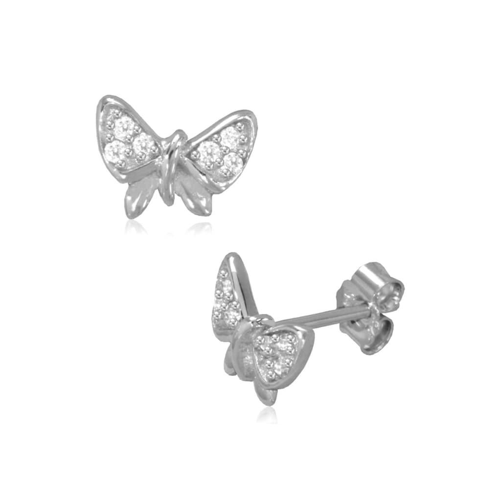 Firetti Paar Ohrstecker »glänzende Schmetterlinge«, mit Zirkonia