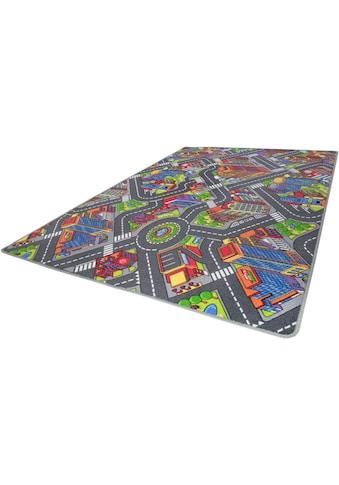 Andiamo Kinderteppich »Big City«, rechteckig, 7 mm Höhe, Straßen-Spielteppich,... kaufen