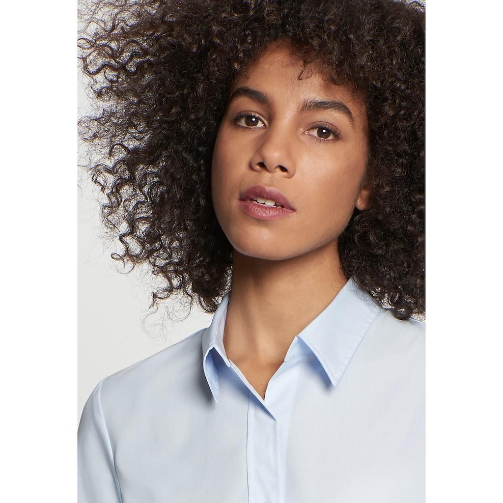 seidensticker Hemdbluse »Schwarze Rose«, Kurzarm Kragen Uni
