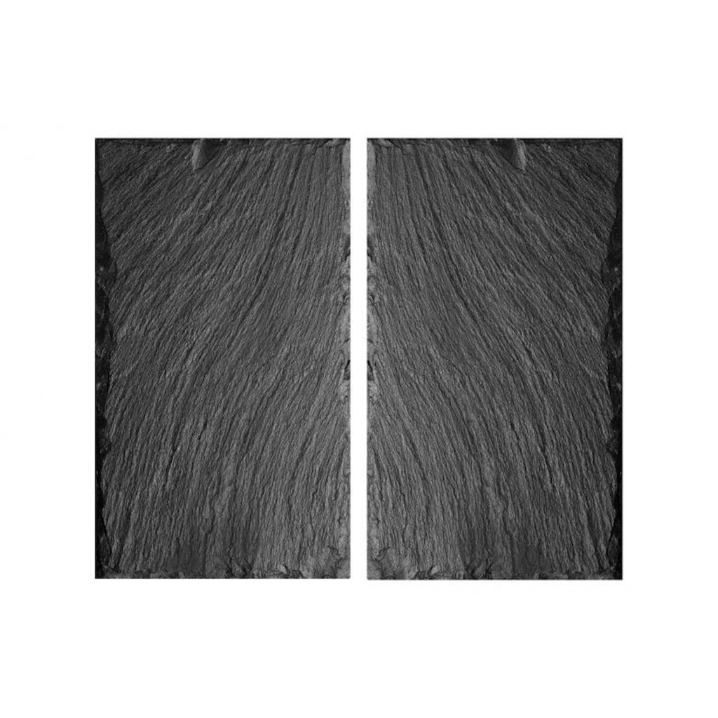 Wall-Art Herd-Abdeckplatte »Abdeckplatte Schiefer 2-teilig«, (Set, 2 tlg.)