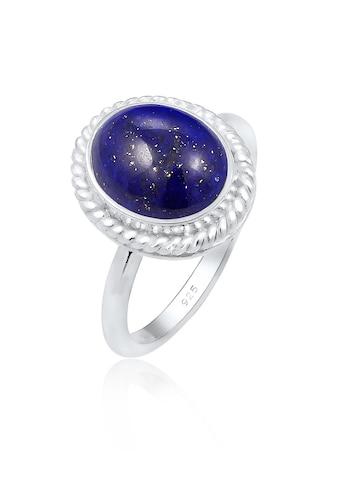 Elli Fingerring »Cocktailring Lapis Lazuli Edelstein 925er Silber« kaufen