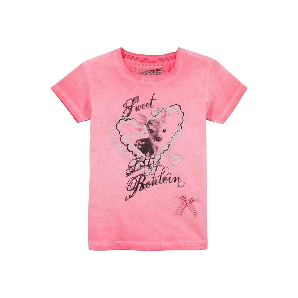 Andreas Gabalier Kollektion Trachtenshirt, Kinder mit coolem Printmotiv