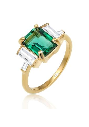 Elli Fingerring »Cocktail Quartz Topas Edelstein 925 Silber vergoldet« kaufen