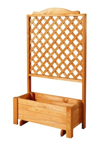 PROMADINO Holzspalier »Romantica«, mit Pflanzkasten, BxTxH: 80x38x140 cm kaufen