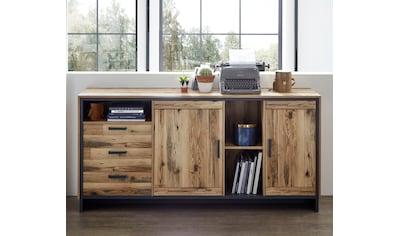 Innostyle Sideboard »Prato«, Breite 185 cm, 2 Holztüren, 3 Schubkästen, 3 offene Fächer kaufen