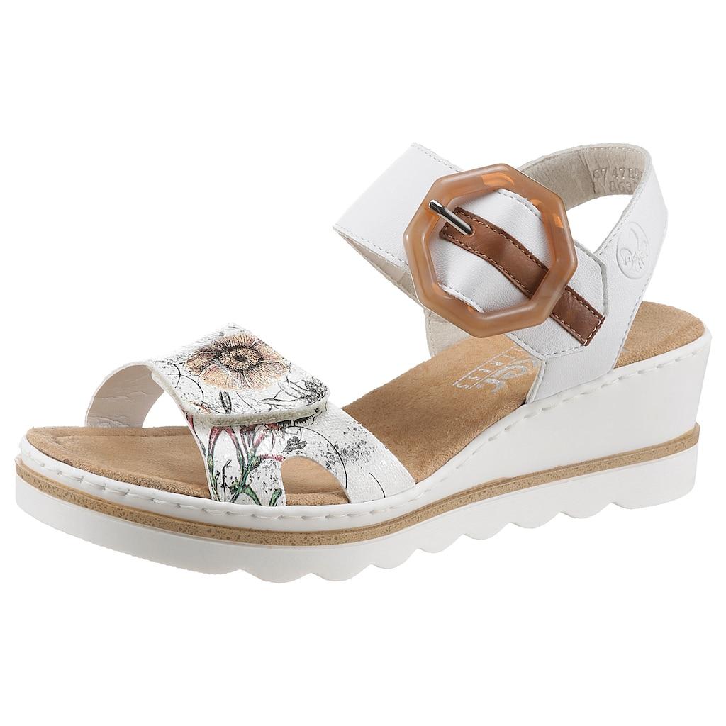 Rieker Sandalette, mit schönem Blumenmotiv