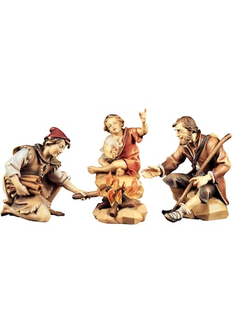 ULPE WOODART Krippenfigur »Hirtengruppe an der Feuerstelle« (Set, 4 Stück) kaufen