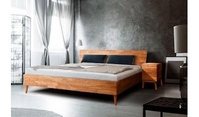 Home affaire Massivholzbett »Scandi«, aus massivem Eichenholz, mit Holzfüßen kaufen