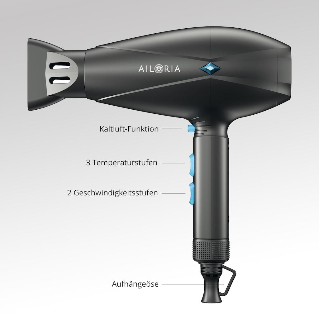 AILORIA Ionic-Haartrockner, 2200 W, 1 Aufsätze, SOUFFLE mit Ionen-Technologie und Kaltlufttaste