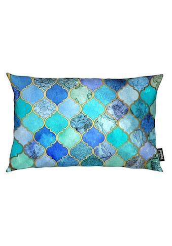 Juniqe Dekokissen »Cobalt Moroccan Tile Pattern«, Weiches, allergikerfreundliches... kaufen