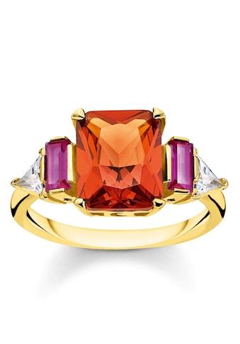 THOMAS SABO Fingerring »Farbige Steine Gold, TR2262-488-7-52, 54, 56, 58, 60«, mit... kaufen