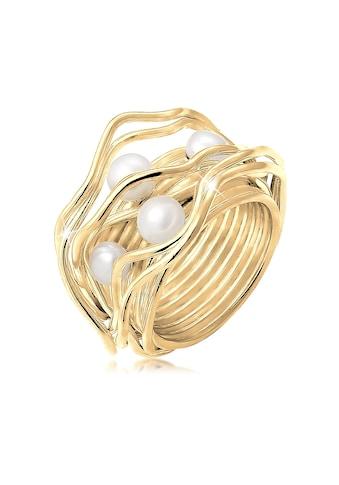 Nenalina Perlenring »Süßwasserperlen Geschwungen Gedreht 925 Silber« kaufen