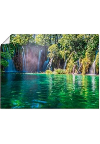Artland Wandbild »Kroatiens Märchenwelt«, Gewässer, (1 St.), in vielen Größen &... kaufen