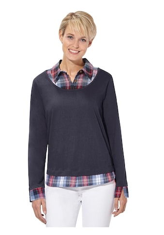 Casual Looks 2 - in - 1 - Shirt im beliebtem Lagen - Look kaufen