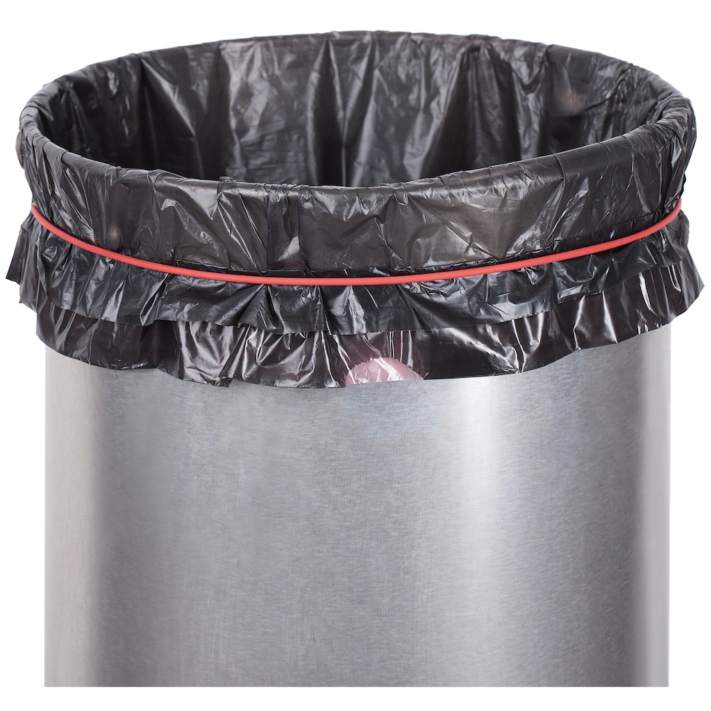 Hailo Mülleimer »Pure L«, silberfarben, Fassungsvermögen ca. 25 Liter