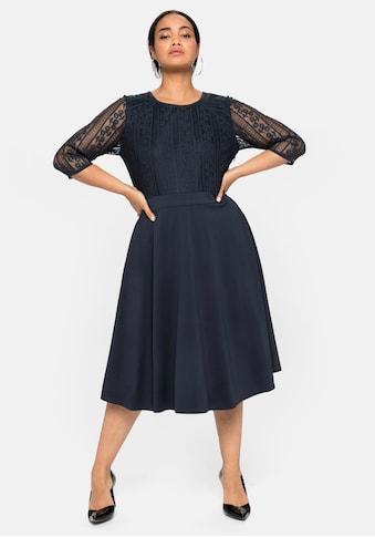 Sheego Abendkleid, mit floraler Spitze und Chiffon-Ärmeln kaufen