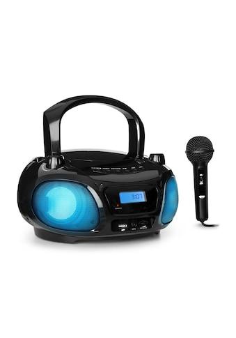 Auna Sing CD Boombox UKW - Radio Lichtshow CD - Player Mikrofon »Roadie 2.0 BK« kaufen