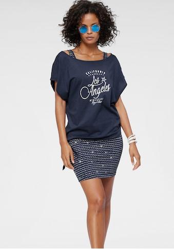 KangaROOS Jerseykleid, (2 tlg.), im Set mit oversize Shirt zum Knoten - NEUE KOLLEKTION kaufen