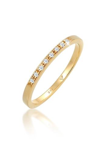 Diamore Diamantring »Bandring Verlobung Diamant (0.04 ct.) 585 Gelbgold« kaufen