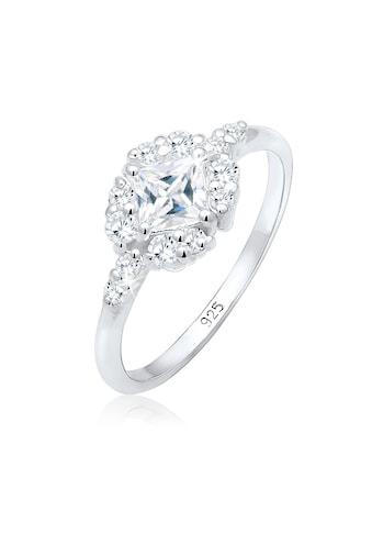 Elli Verlobungsring »Verlobung Zirkonia Steine Romantisch 925 Silber« kaufen