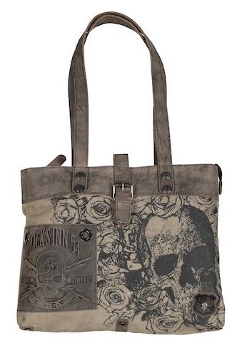 JACK'S INN 54 Shopper »Colombia«, aus stabilem Canvas Material im Tattoo-Style kaufen