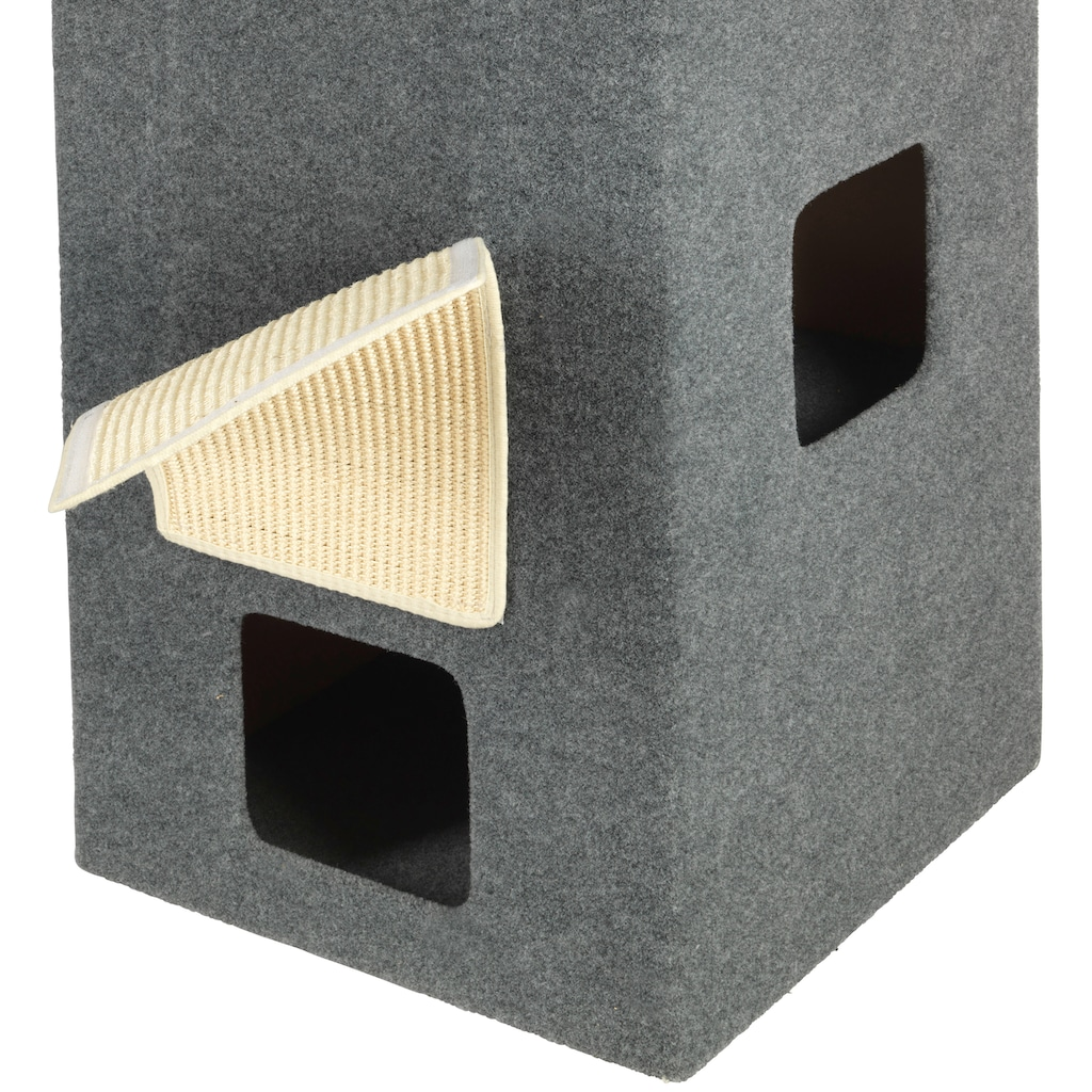ABUKI Kratzbaum »Scratchy«, hoch, BxTxH: 46x46x100 cm