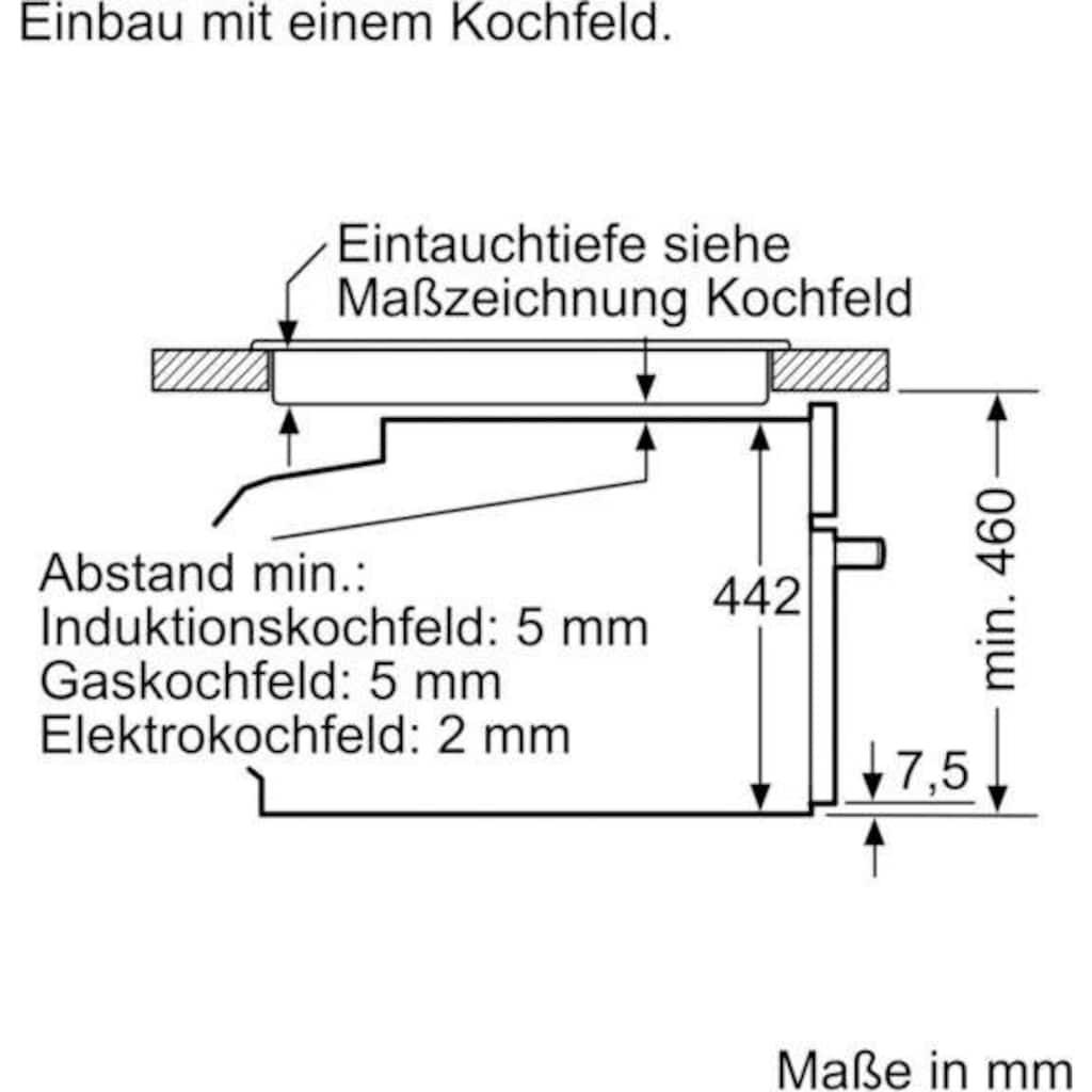 SIEMENS Einbau-Dampfgarer CD634GAW0