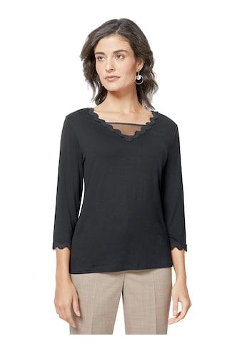 Creation L Shirt mit  transparentem Mesh - Einsatz kaufen