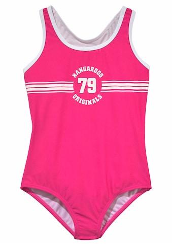 KangaROOS Badeanzug »Sporty«, mit sportlichem Frontdruck kaufen