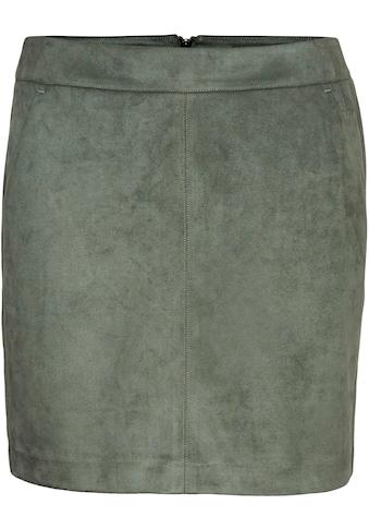 Vero Moda Lederimitatrock »VMDONNA DINA«, in Wildlederoptik kaufen