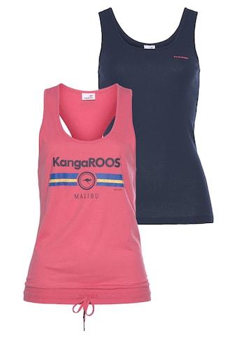 KangaROOS Tanktop, im Doppelpack - übereinander oder einzelnd tragbar kaufen