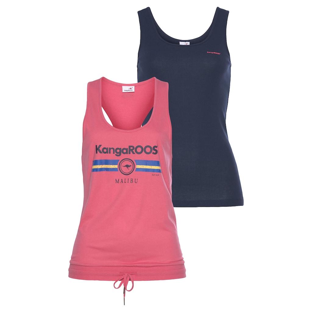 KangaROOS Tanktop, im Doppelpack - übereinander oder einzelnd tragbar