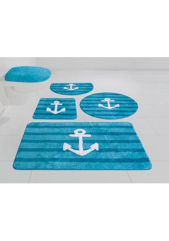 my home Badematte »Anker«, Höhe 12 mm, rutschhemmend beschichtet, weiche Haptik kaufen