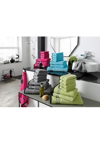 my home Handtuch Set »Jonnie«, mit fein gepunkteter Bordüre kaufen