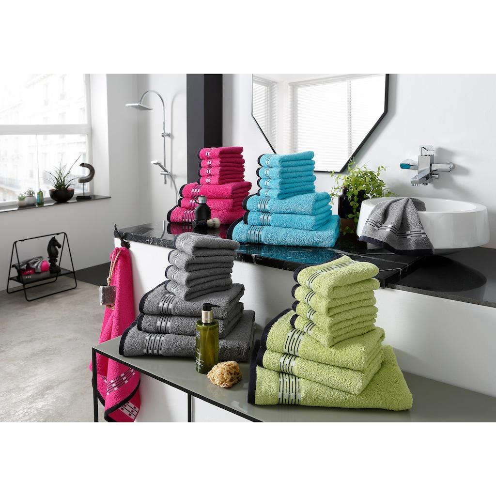 my home Handtuch Set »Jonnie«, mit gemusterter Bordüre