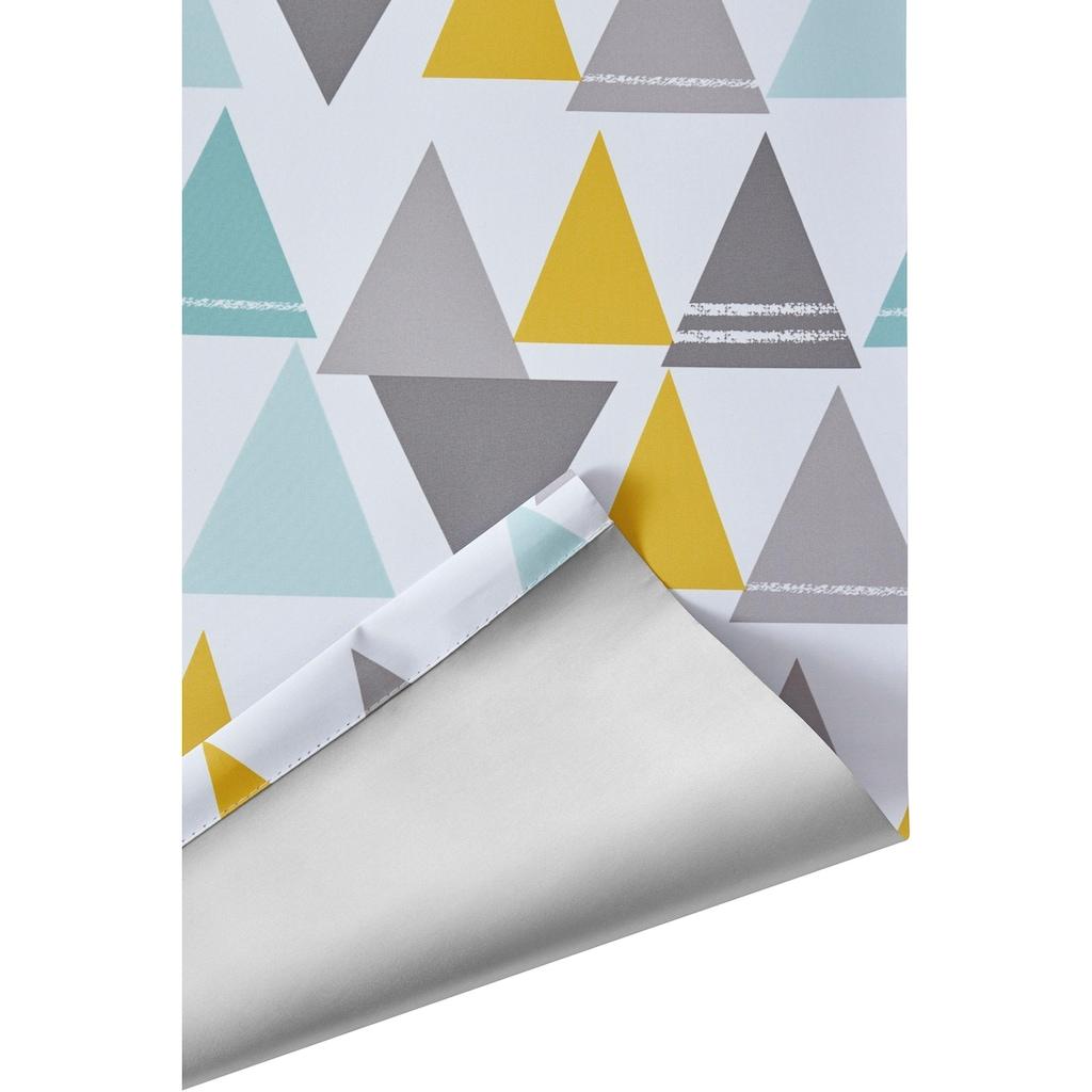 Lüttenhütt Rollo »Dreieck«, verdunkelnd, energiesparend, ohne Bohren, freihängend, Kinderrollo