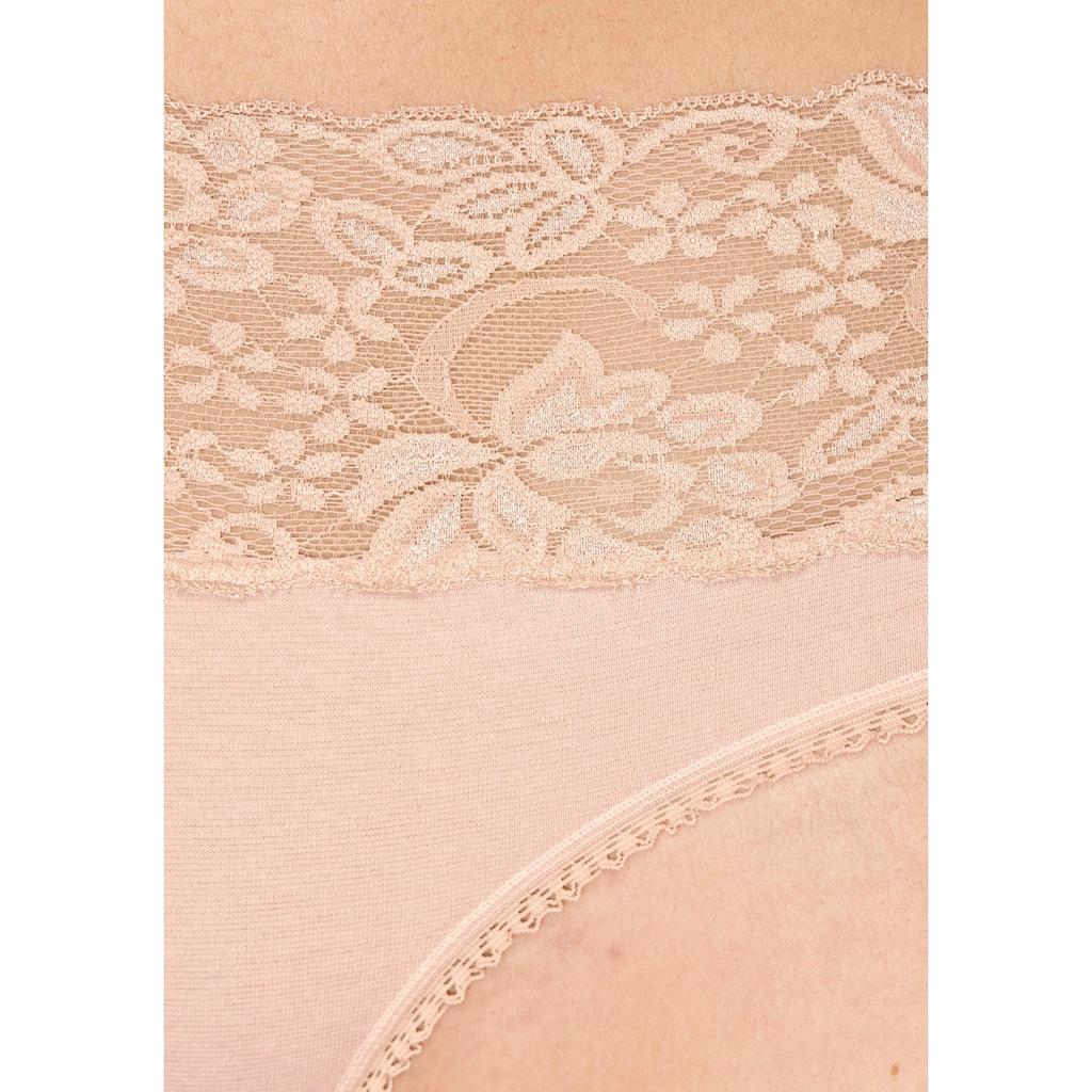 Vivance Slip, (3 St.), mit breitem Spitzenbündchen