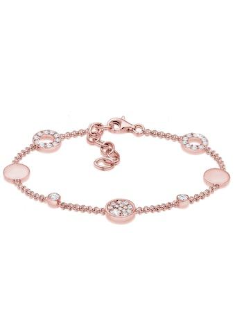 Elli Armband »Kreis Plättchen Swarovski® Kristalle 925 Silber« kaufen