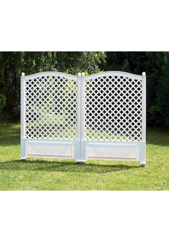 KHW Spalier BxTxH: 100x6x140 cm, weiß kaufen