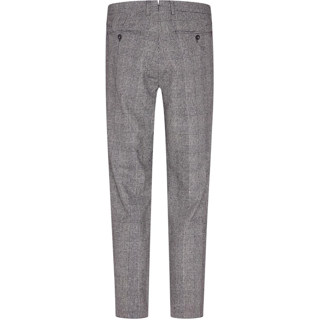 Tommy Hilfiger TAILORED Anzughose »CHECK SLIM PANT«, durch Riegel in der Weite regulierbar