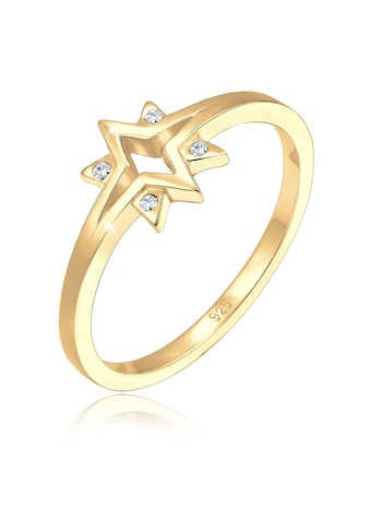 Elli Fingerring »Sterne Starburst Kristalle 925 Silber« kaufen