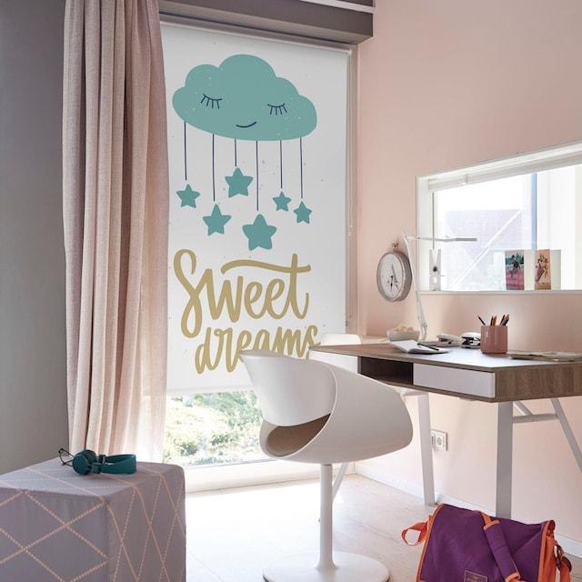Seitenzugrollo »Sweet Dreams«, Lüttenhütt, verdunkelnd, ohne Bohren