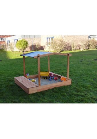 promadino Sandkasten »MULTI«, (Set), BxLxH: 140x172x131 cm, mit Sitzbox und Sonnendach kaufen