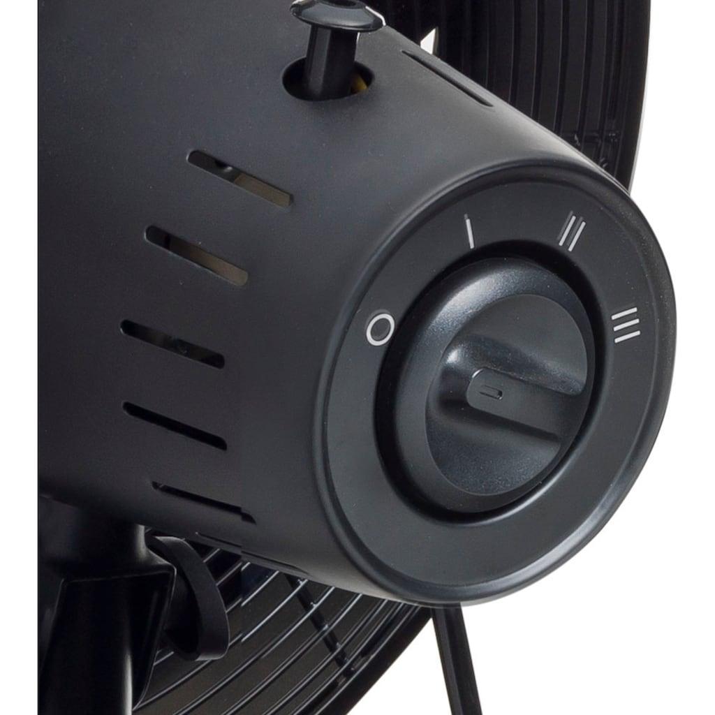 bestron Tischventilator »Summer Breeze«, mobiles Gerät, mit Schwenkfunktion, Höhe: 57 cm, Ø 35 cm, Schwarz/Braun
