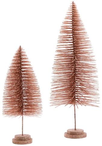 Dekobaum »Tannen-Set«, mit Glitzer, Höhe 40 cm + 60 cm kaufen